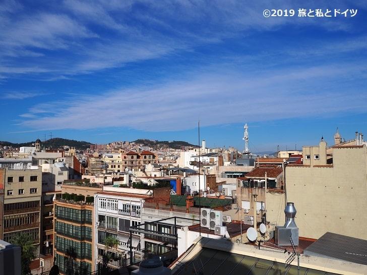 カサ・ミラ屋上からの眺望