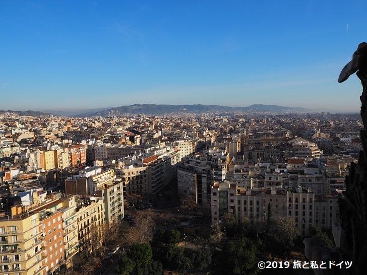 サグラダ・ファミリアのファザードからの眺望