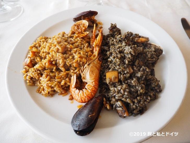 レストラン「エル カングレホ ロコ」のパエリア