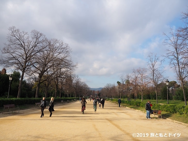 シウタデリャ公園の風景