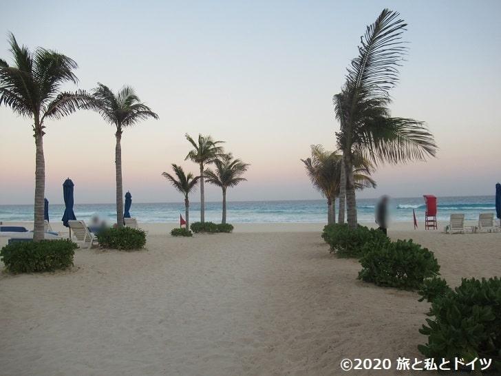 ライブアクアビーチリゾートカンクンのビーチ