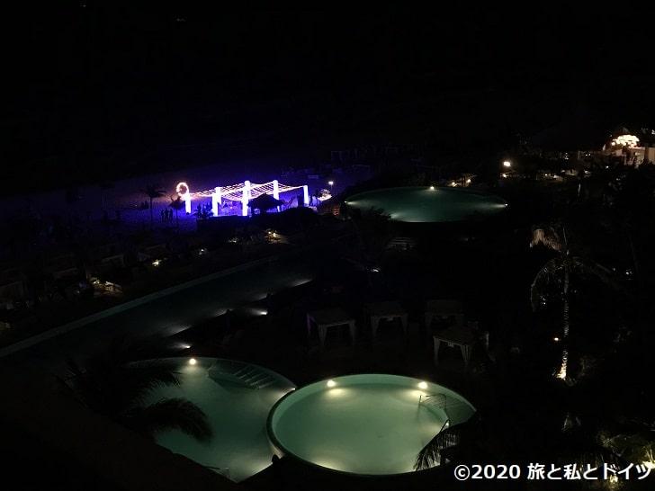 ライブアクアビーチリゾートカンクンの夜景