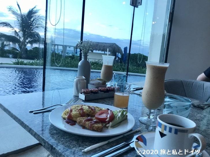 ライブアクアビーチリゾートカンクンの朝食