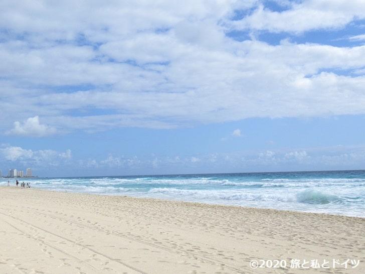 ライブアクアビーチリゾートカンクンのプライベートビーチ