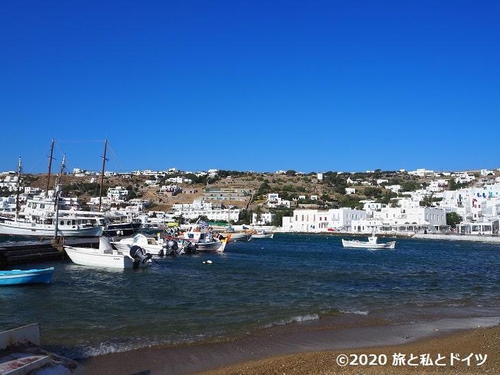ミコノス島の景色
