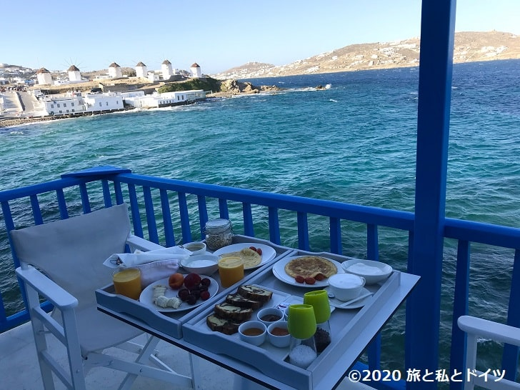 ホテル「ブルートピアスイーツ」の朝食