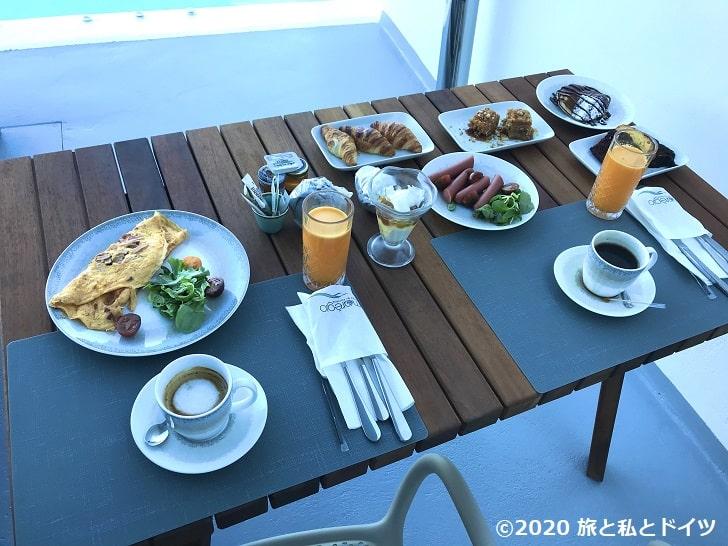 ホテル「Maregio Suites」の朝食