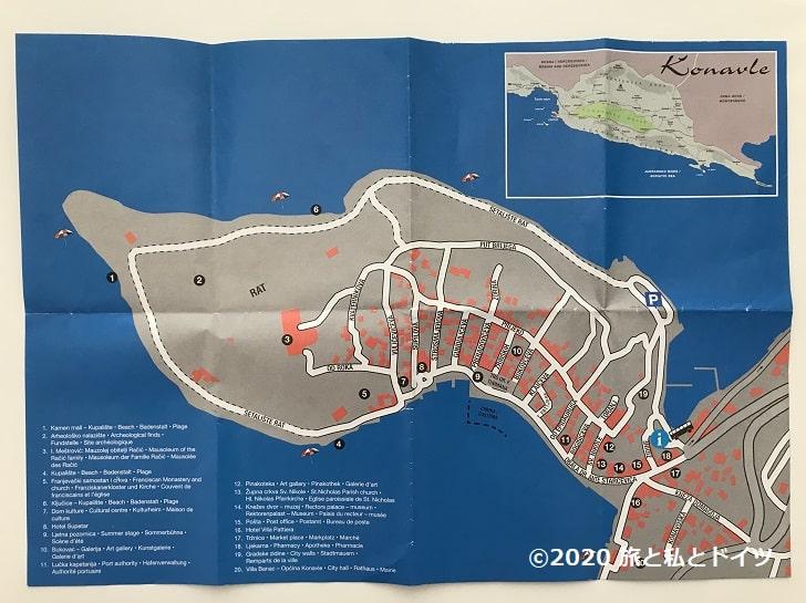 ツァヴタットの地図