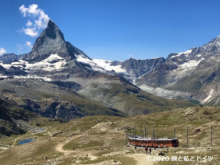 ゴルナーグラート展望台周辺のハイキングコース