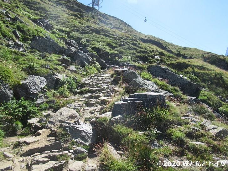 リッフェルベルクからリッフェルアルプまでのハイキングコース