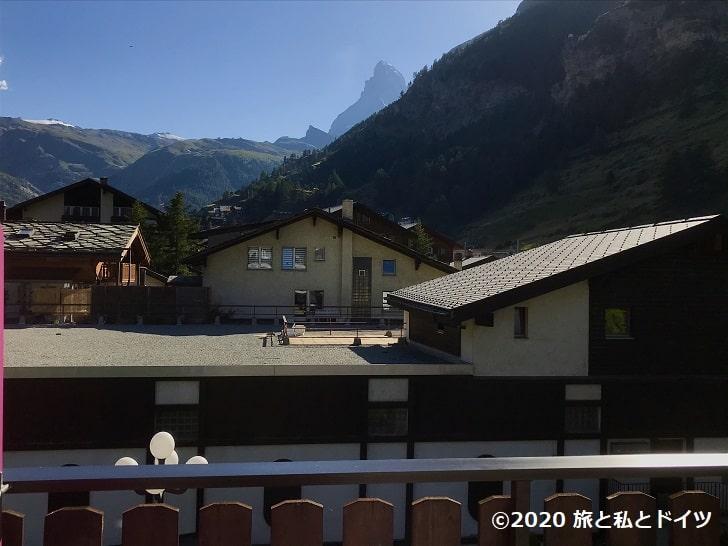ツェルマットのホテルからの眺望